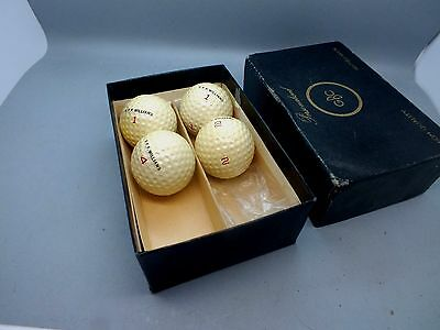 Four Unused GBC Personalised Golf Balls in Original Box c1960