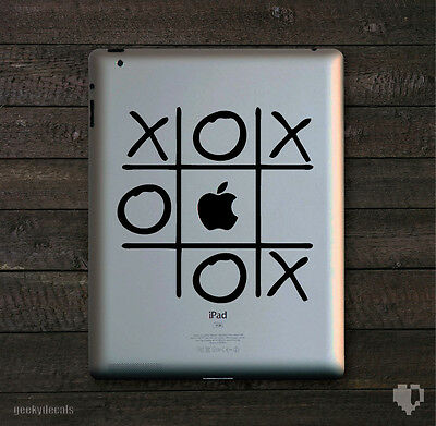 Tic Tac Toe iPad Decal / iPad Sticker