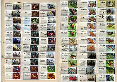 GB: 66 different used POST & GO stamps including recent issues