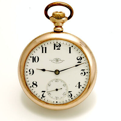 18 Size 21 Jewel Ball Hamilton Grade 999 Railroad Pocket Watch Ca1910