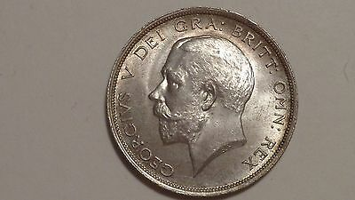 1919 Half-Crown.George V.1911-1936.nUNC Shrong Hair Strike.Lustre.Toning.British