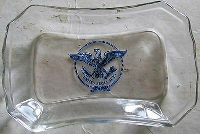 US Lines Steamship Ocean Liner SS United States Glass ACL Ash Tray