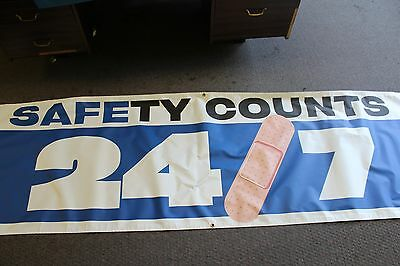 safety counts 24/7 banner Free Shipping