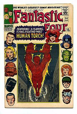 Fantastic Four #54 Inhumans Cameo - Marvel SILVER AGE 1966 VG-
