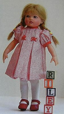 DARLING Dress & Coat Clothes Pattern for Kish Riley Doll - UNCUT