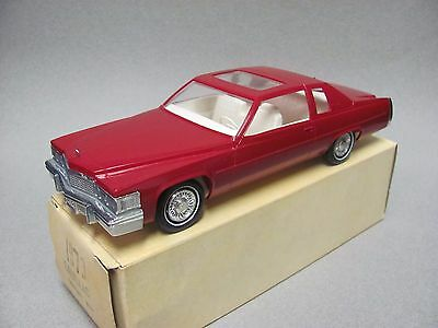 Johan 1979 Cadillac Coupe DeVille Promo Car - Saxony Red, Mint w/Box Condition!