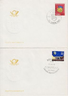 DDR FDC 1167 - 1168 auf 2 FDCs mit SST Berlin 1966 , first day cover