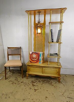 VTG 1960s Mid Century French Italian Revival South Philly Wall Unit Room Divider