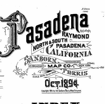 Los Angeles County, California~Sanborn Map© sheets~726 county maps~on a CD