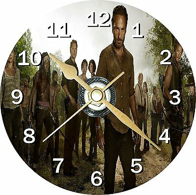 The Walking Dead 1 Novelty Cd Clock + Free Desktop Stand