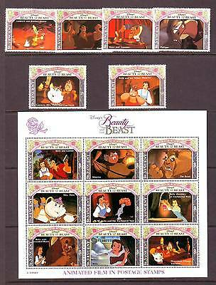 St Vincent - Sg2005-Ms2028 Mnh 1992 Disney - Scenes From Beauty And The Beast