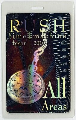 Rush authentic 2010 concert Laminated Backstage Pass Time Machine Tour Foil AA