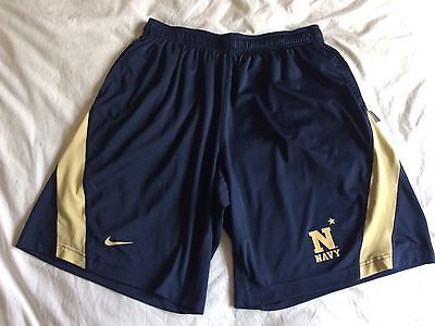 NIKE Navy Lacrosse Shorts with Pockets - XXL