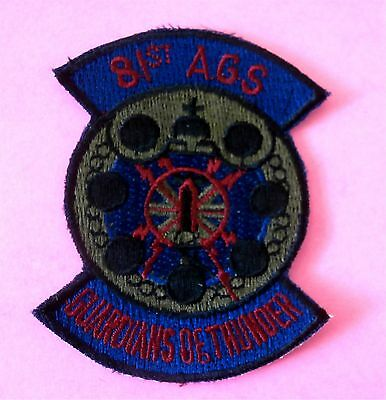 """81st AGS Guardians of Thunder - Air Force Patch New 3""""x 2"""" (8 cm x 6 cm)"""