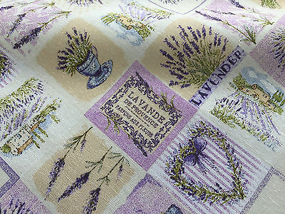 French Lavender Print Cotton Fabric Floral Curtains Upholstery 280cm EXTRA WIDE