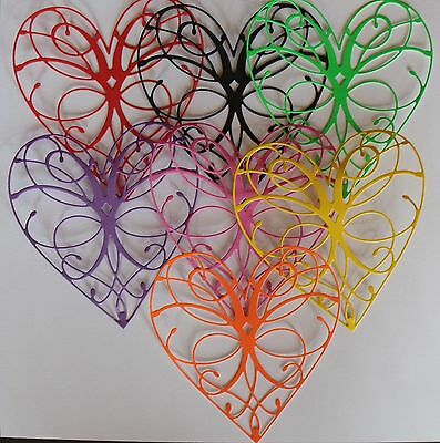 PACK OF 10 ASSORTED  HEARTS FOR CARD MAKING and SCRAPBOOKING