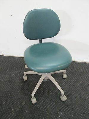 "Adec 1601 Dental Doctor Stool w/ Green Vinyl Upholstery & 18""-24"" Height"
