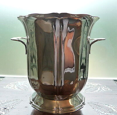 Guy Degrenne, France, polished stainless steel half sized wine cooler ice bucket