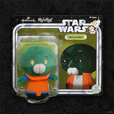 2017 Sdcc Exclusive Hallmark Star Wars Walrus Man Itty Bittys Plush Comic Con
