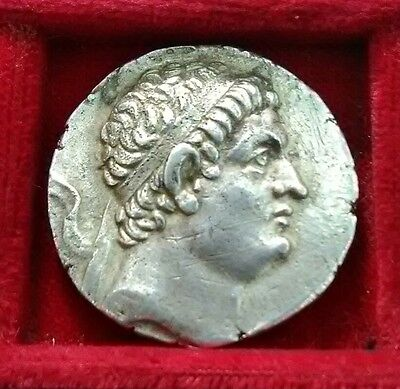 Greek KINGS of BAKTRIA.  Euthydemos 225-200 BC. Herakles seated AR Tetradrachm