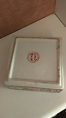 antique chinese famille rose madelion pot rare 6 charecter mark