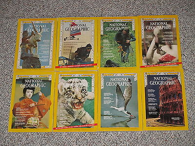 National Geographic Magazine Back Issue Lot of 8 Magazines from 1967/1970
