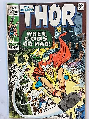 Thor #180 Bronze Age Sept 1970 VG Stan Lee Neal Adams