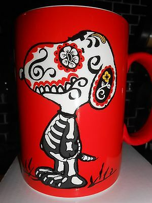 CREEPY RARE MUG! SNOOPY DOG OF THE DEAD Halloween Dept. 56 DAY OF THE DOG MIB