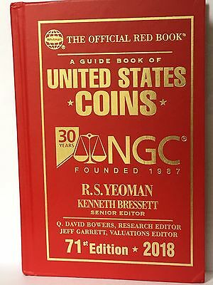2018 Whitman US Coins Red Book, NGC 30th Anniversary 71st Special Edition Rare