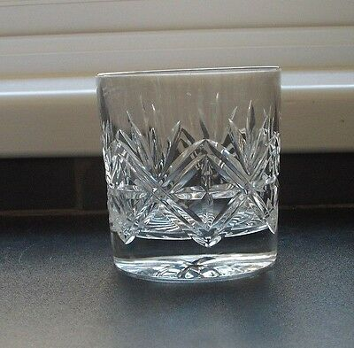 deep cut glass crystal whisky tumbler