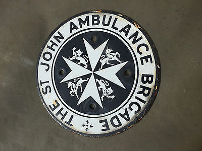 St John Ambulance Wall OLD Vintage Rare Original plaque