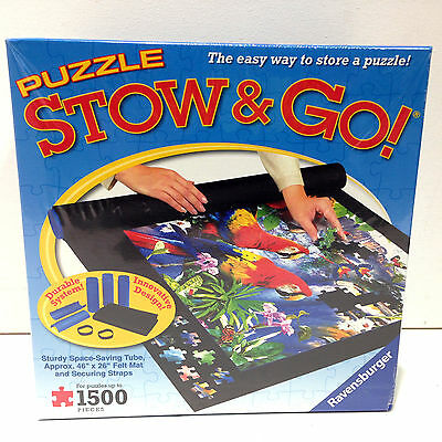 New! Puzzle Stow and Go! by Ravensburger Jigsaw Storage Mat Black