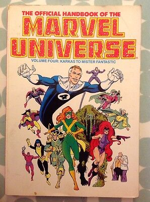 The Offical Handbook Of The Marvel Universe Volume Four