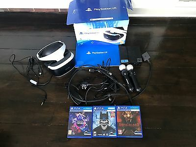 Sony PlayStation VR Headset, Move Controllers and 3 Games Bundle