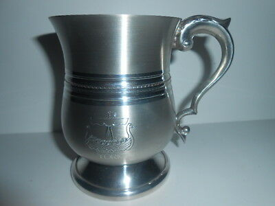 English Pewter Pint Tankard ( YORK ) / Made in  Sheffield / New - See Photos