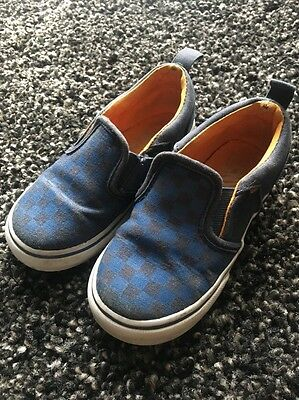 Boys Checked Vans Size 7