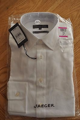 "Jaeger White Cotton Shirt Size 15"" Collar Brand New"