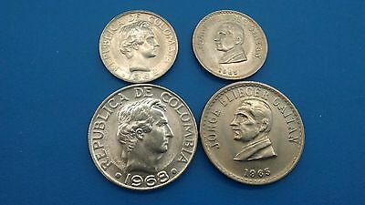 1965,1968 Colombia   20 and 50  Centavos    .UNC
