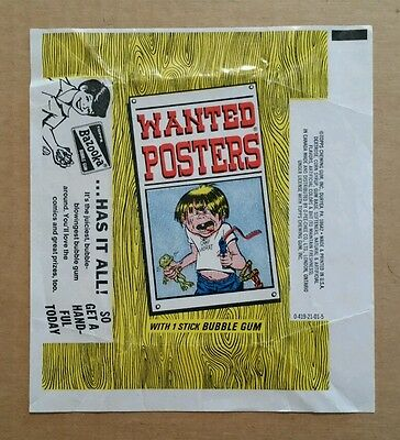 Wanted Posters,Topps Gum Wrapper,1970's