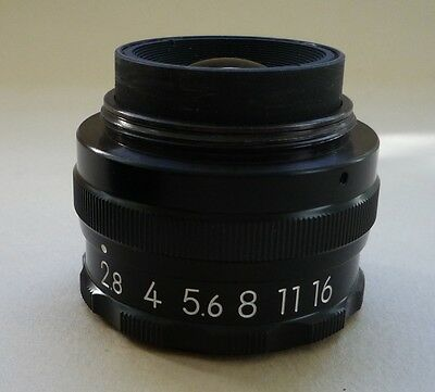 Nikon El-Nikkor 50mm f2.8 enlarger lens + box, CP cover, 3 rings and lens cap