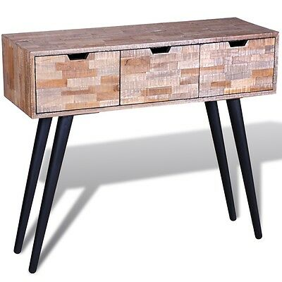 Console Table Reclaimed Teak Handmade with 3 Drawers Living Room Furniture