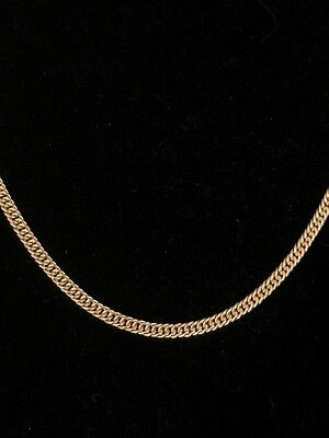 "3mm Cuban Curb Chain 14k Gold Over Genuine Sterling Silver *15 Grams ~ 26"" Long*"