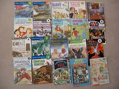 lot: 40 level 4 (some 5) readers: SCHOLASTIC, DK READERS,STEP INTO READING, etc