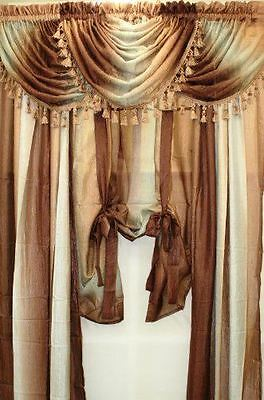 Achim Home Furnishings Ombre Window tTreatments Panel , Scarf , Valance & Tieup