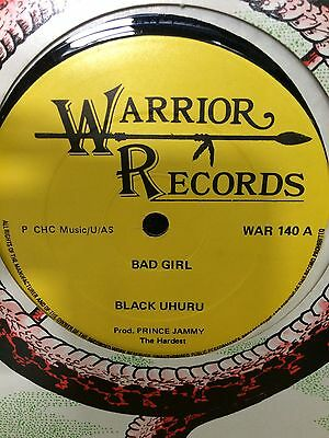 "Black Uhuru  ""bad Girl"" On The Warrior Label 12"", Hear."