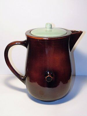 VINTAGE 1950's RED WING USA COFFEE POT VILLAGE GREEN LID