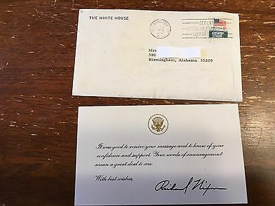 1973 Letter From The White House Richard Nixon