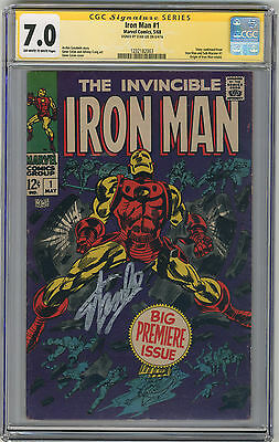 1968 Iron Man 1 CGC 7.0 Signed by Stan Lee