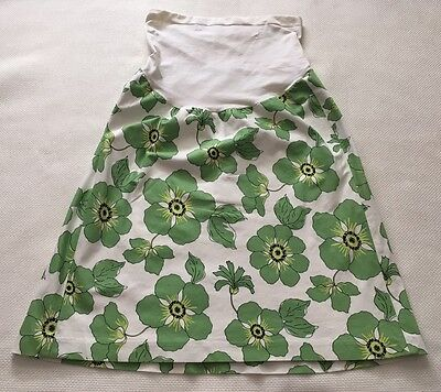 a pea in the pod Skirt Sz S White Green Floral lightweight EUC I