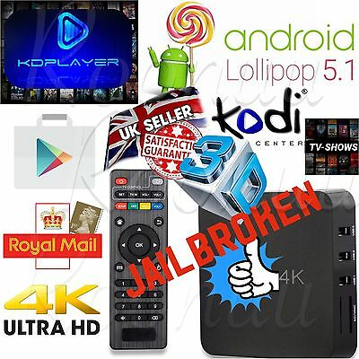 Android 5.1 TV BOX SMART 4K Quad Core NEW 17.3 SPORT Movies Latest Media Player